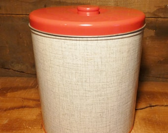 Vintage Decoware tin canister