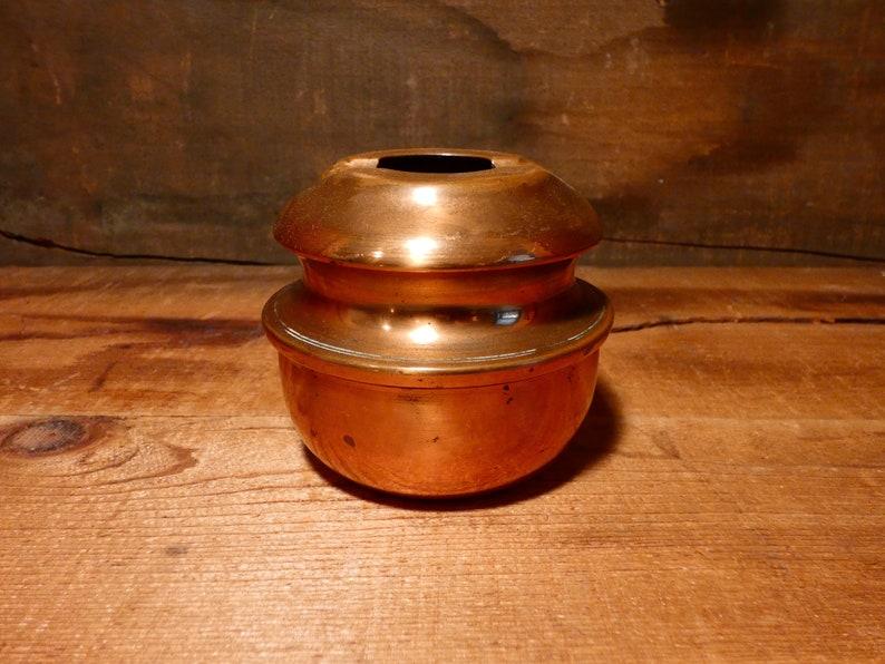 Vintage copper spittoon ashtray