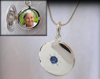 Small locket with 1 photo