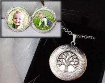 Tree of Life Locket in Silver - Locket for Women - Photo Locket