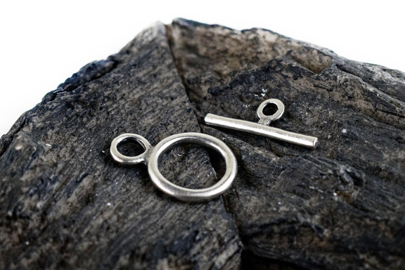 Clasps Findings T Bar Toggle Clasp 3 sets Jewellery Supplies Antique Silver Toggle Clasps