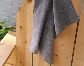Organic Cotton Tea Towel, brown chambray