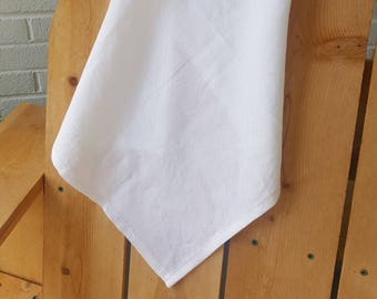 Dish towel / tea towel, white linen