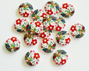 Beach Party Watermelon Buttons Tropical Embellishment Sew on Fruit Buttons