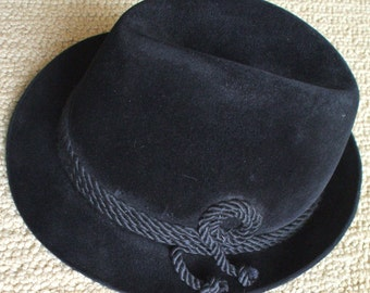 2d53556f509e1 SALE - Dark Brown Black Felt Cavanagh Fedora with