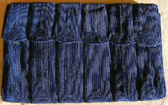 Black CORDE'  Coiled Cord Clutch/Handbag/Purse, Vi