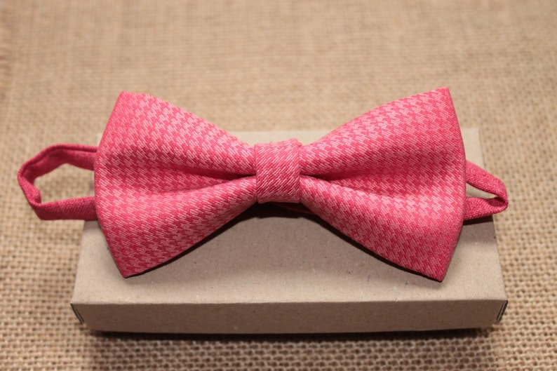 90b5a3a65637 Coral Mens Bow Tie Pink Bow Tie Classic Bow Tie Pink | Etsy