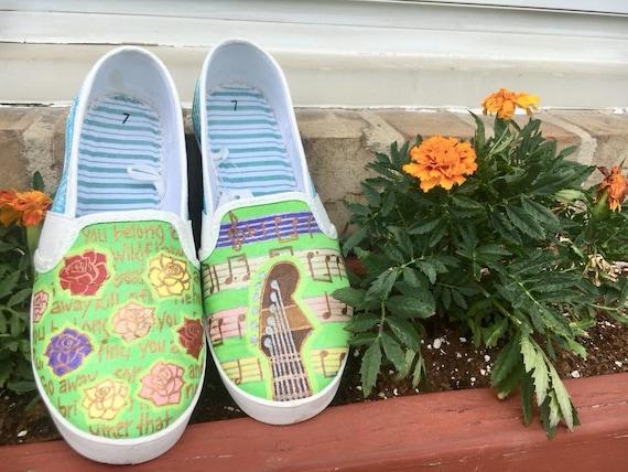 Tom Petty Shoes Etsy