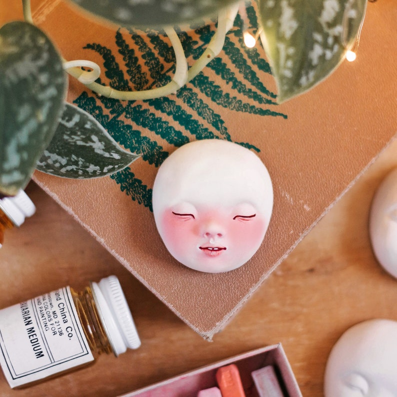Doll faces for doll making 5 sculpted faces in the box