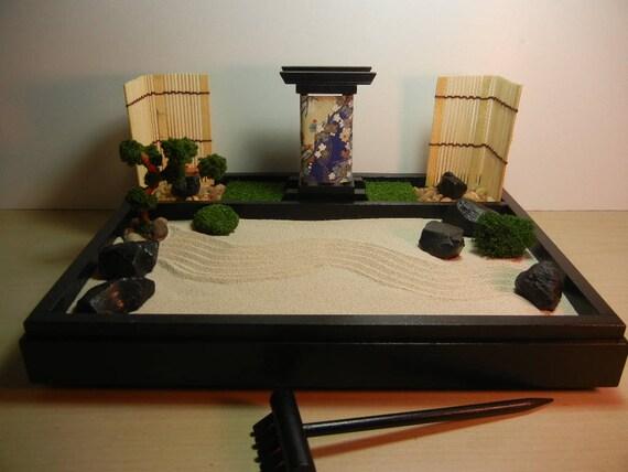 Zen Garden Desk Top Zen Garden Table Top Zen Garden With | Etsy