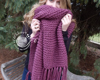 Blanket Scarf - Giant Oversized Scarf - Chunky Wool Scarf - Chunky Crochet Knit Scarf - Extra Wide Long Scarf Custom Colors