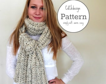 PATTERN Chunky Crochet Scarf - Giant Scarf - Open Ended Scarf - Chunky Scarf - THE TUNDRA