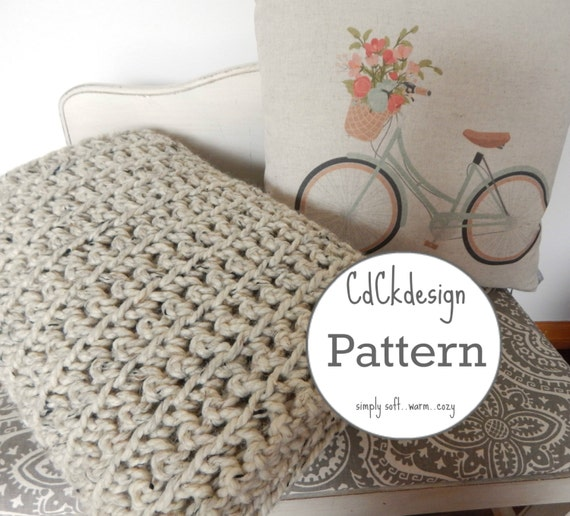 Crochet Patternchunky Crochet Throw Blanket Ribbed Chunky Etsy