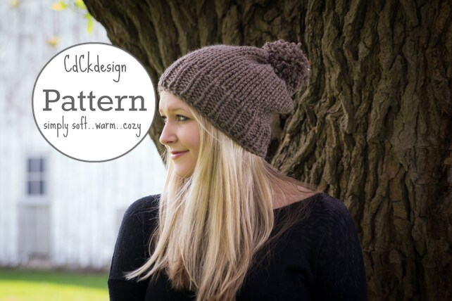 Knitting Pattern Chunky Knit Hat Ribbed Knit Toque Beanie Etsy