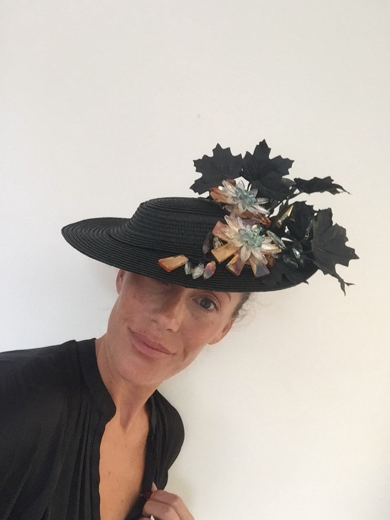 Boater hat black boater races hat hat for royal ascot  a34099747ef