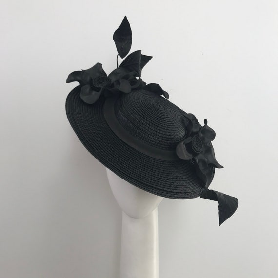 Black boater hat races boater boater for the races derby  bae238276a8