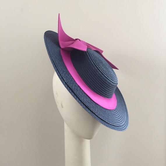 Boater navy boater boater hat races hat Fascinator  ec1319aec9f