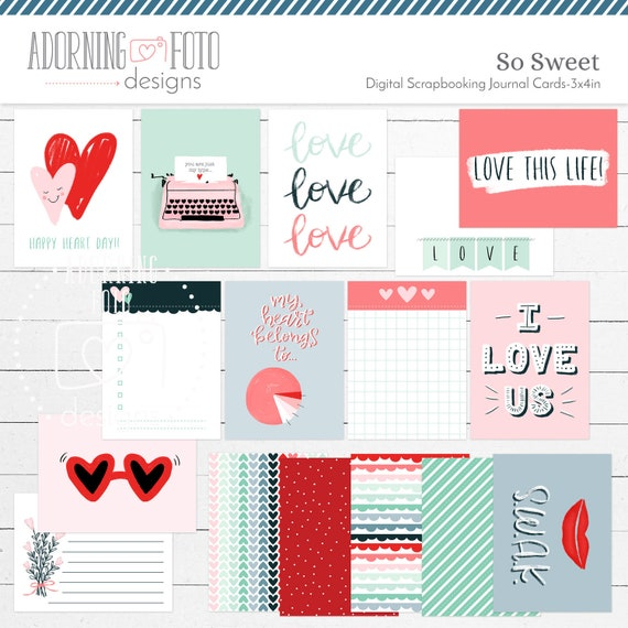 photograph relating to Printable Journaling Cards titled Therefore Cute Valentine 3x4 Journaling Playing cards Printable, Thus Cute Valentine 3x4 Job Daily life Printable magazine playing cards, Valentines Playing cards