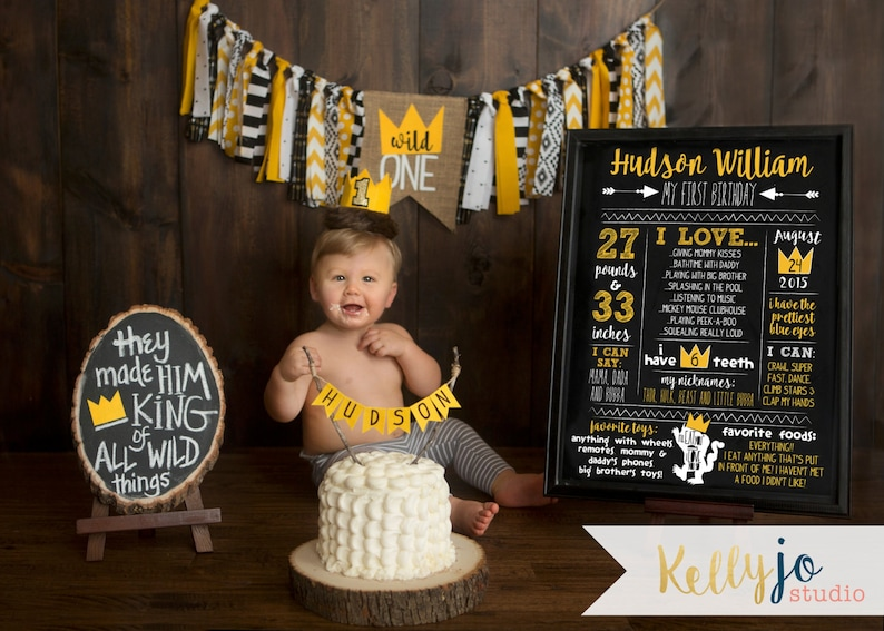 Where The Wild Things Are First Birthday Stats Poster  Wild image 0