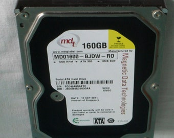 Hard drive - 3.5 - 160 GB SATA - MD01600 BJDW RO
