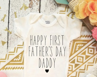 Customizable Happy 1st Father's Day Unisex- Baby bodysuit First Fathers Day