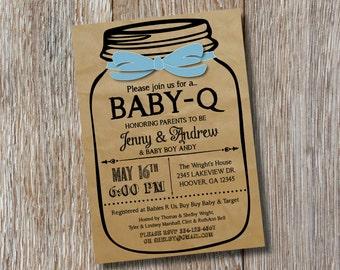Baby-Q Baby Shower Invitation