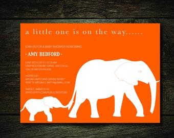Elephant Baby Invitation