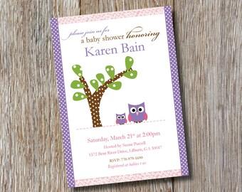 Printable | Adorable Owls Baby Shower Invitation