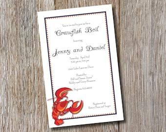 Printable - Crawfish Boil Invitation