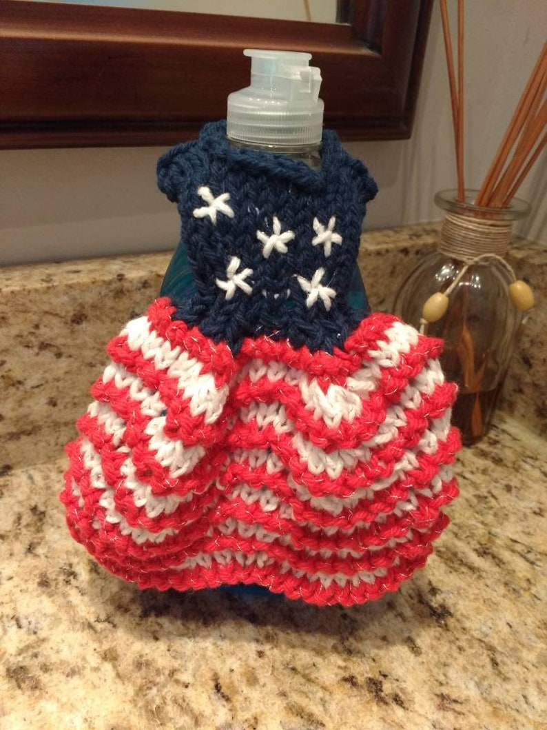 7 different Holiday themed dishcloth dresses image 0