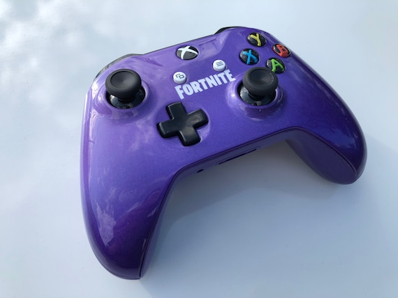 Custom Painted Purple Fade Fortnite Themed Xbox One Wireless Controller S 3 5mm Bluetooth