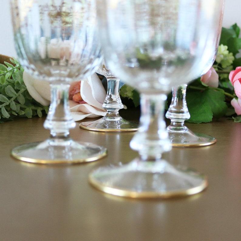 cae41647e88e Antique Bohemian Cordial Glasses Set Gold Crystal Cordial