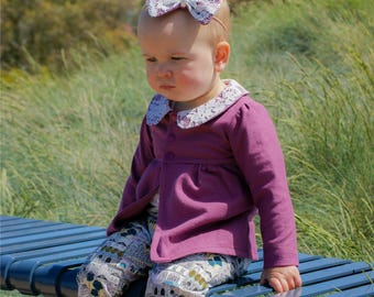 Baby Chloe Cardigan and Pants PDF Sewing Pattern