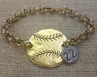 Baseball Bracelet (Pewter)