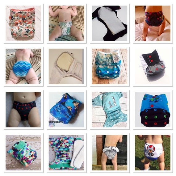 BIG ELEPHANT Baby Graphic Reusable Cloth Pocket Diapers with Mi.. Free Shipping