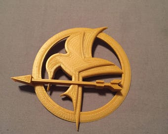 3D Printed Mockingjay Pin, with metal pin