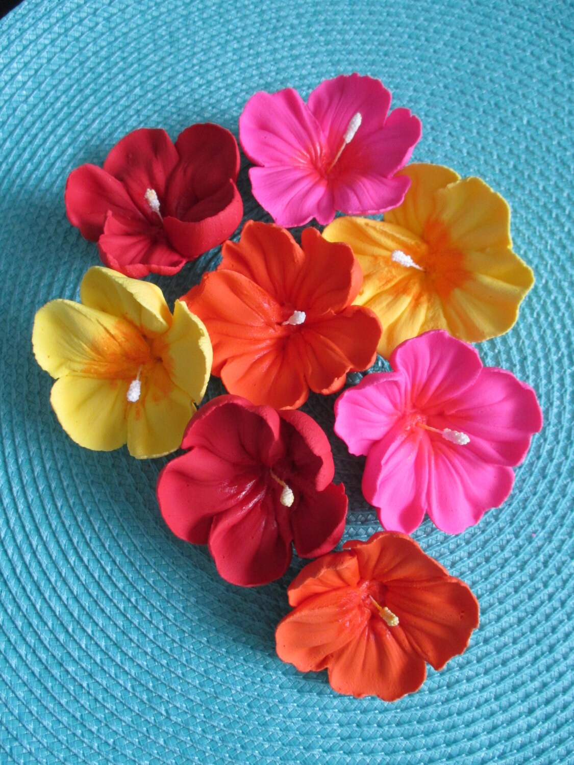 Royal Icing Hibiscus Flowers Many Colors And Sizes Etsy