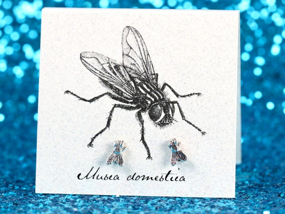 1 Single Sterling Silver TINY 7x10mm Insect Bug Bee Stud Post Earring!