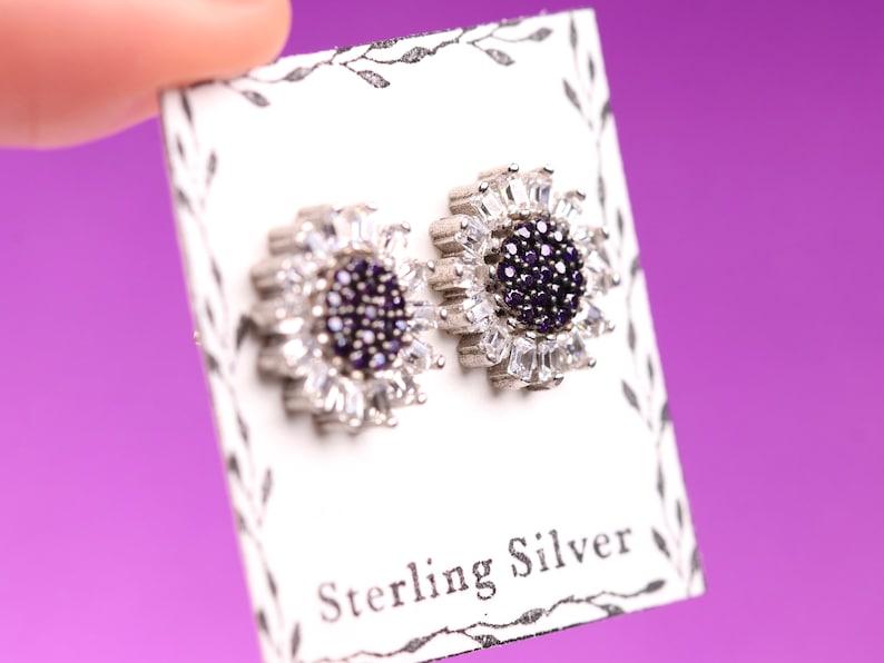 Cubic Zirconia Studs Sterling Silver Stud Earrings