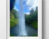 Behind The Waterfall | Silver Falls Waterfall | Oregon | Photographic Print Nature Print