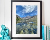 Convict Lake- Lake-Mountain- Sky | Under water | California -wall art, wall print, home décor, Nature print, home, outdoors Photo