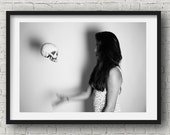 Skull Toss Black and White Photography | Unique Photo Print | Unique Wall Art | Skull Photography | Print of Skull | Skull Art | Skull