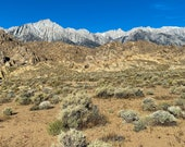 Alabama Hills | Eastern Sierra Mountains in the background Photograph | desert | home décor, Nature print, outdoors Photo