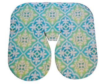 Seamless Fleece Massage Face Pad Drape - Butterflies