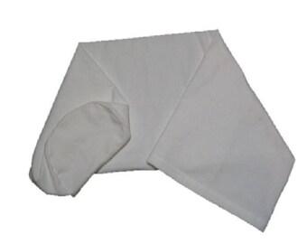 Cotton Flannel Bolster Cover - 3/4 Semi-Round Bolster - 6 Inch