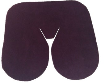 Seamless Fleece Massage Face Pad Drape - Solid Color Options