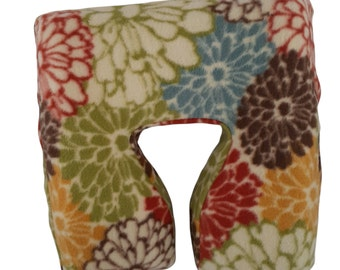 Master Ergonomic Fleece Massage Face Pad Cover - Multicolored Mum Print