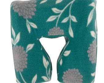 Master Ergonomic Fleece Massage Face Pad Cover - Teal Floral Print