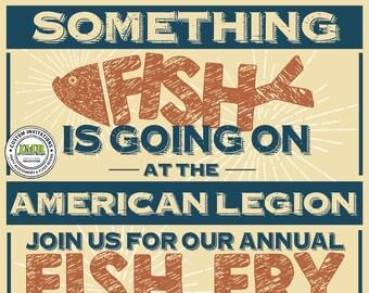fish fry flyer etsy