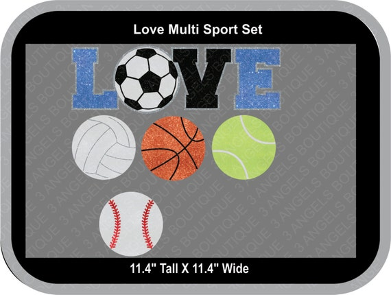 9ae3742b32 Love Multi Sport Interchangable SVG Cutter Design INSTANT